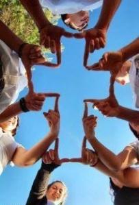 hands cross