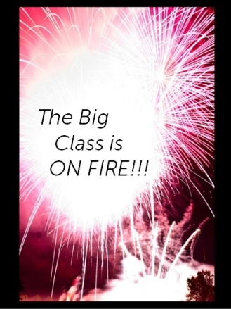 big class on fire