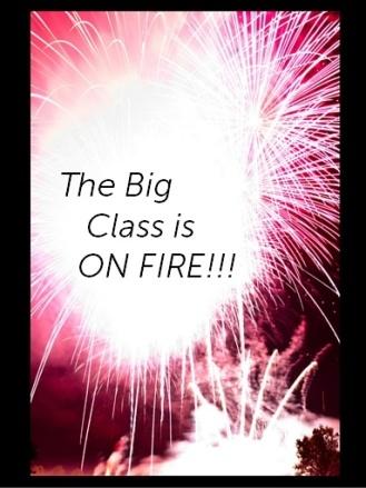 big class on fire