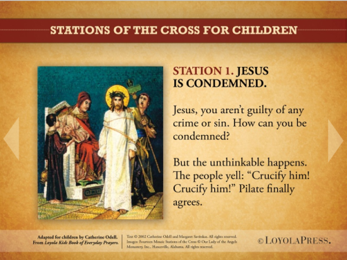 stations of cross children