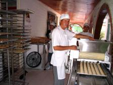 At work in his cookie factory in villavicencio this workers has